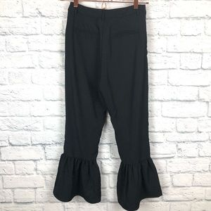 Lucca Couture Pants & Jumpsuits - Lucca | black pants ruffled hem size XS